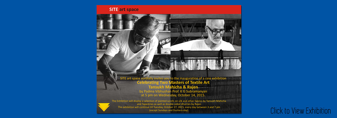 Celebrating Two Masters Of Textile Art : Tansukh Mahicha & Rajen