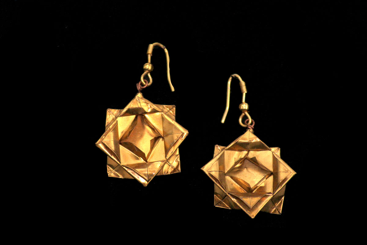 Metal Petal (Lotus earrings)