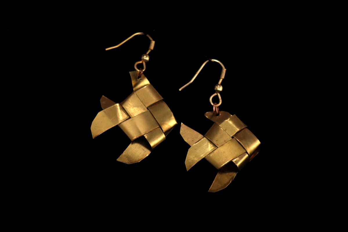 Brasstastic Fish (Fish Earrings)